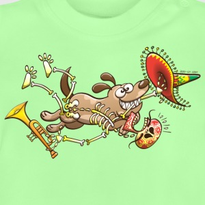 Mischievous Dog Stealing Mexican Skeleton Shirts - Baby T-Shirt