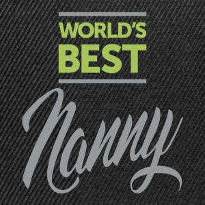 World's Best Nanny - Snapback Cap