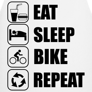 Eat,sleep,bike,repeat Fahrrad T-shirt - Cooking Apron