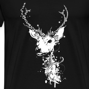 A white deer head Bags & Backpacks - Men's Premium T-Shirt