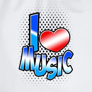 I love Music T-Shirts - Turnbeutel