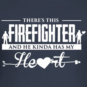 Firefighter Heart Pullover & Hoodies - Männer Slim Fit T-Shirt