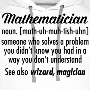 Mathematician - Definition T-shirts - Premiumluvtröja herr