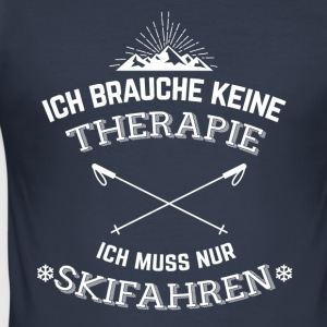 Ski Therapie Pullover & Hoodies - Männer Slim Fit T-Shirt