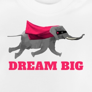 Flying elephant Dream big Camisetas - Camiseta bebé