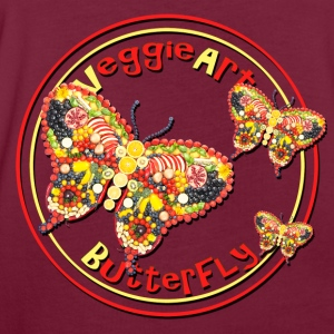 VeggieArt Butterfly – Fly High and feel free! - Frauen Oversize T-Shirt
