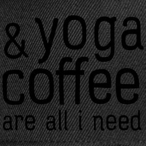Yoga & Coffee Are All I Need T-Shirts - Snapback Cap