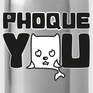 T shirt jaune homme Humour Fuck you Phoque you - Gourde