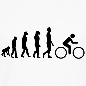 Cycling evolution - Herre premium T-shirt med lange ærmer