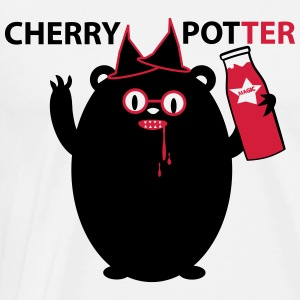 Cherry Potter Gensere - Premium T-skjorte for menn