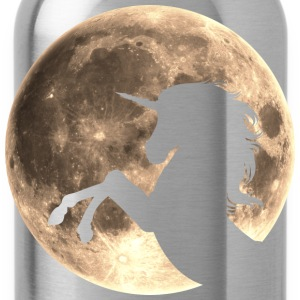 Unicorn, moon, fullmoon, fantasy, magic, space T-S - Water Bottle