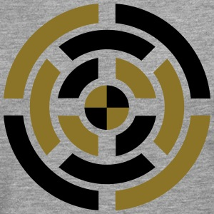 Circle, Symbol, Sign, Icon, Emblem, Badge,  T-shirts - Herre premium T-shirt med lange ærmer