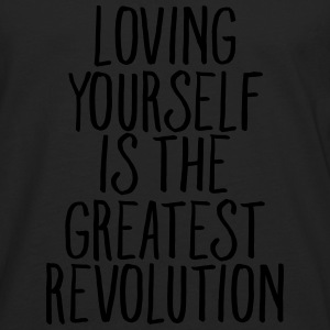 Loving Yourself Is The Greatest Revolution T-shirts - Herre premium T-shirt med lange ærmer