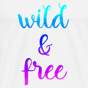 Wild & Free Mugs & Drinkware - Men's Premium T-Shirt