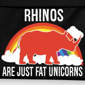 Rhinos -- are just fat Unicorns Hoodies & Sweatshirts - Kids' Backpack
