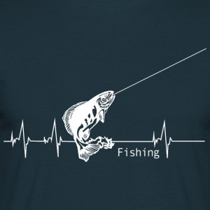 Heartbeat Fishing Hoodies & Sweatshirts - Men's T-Shirt