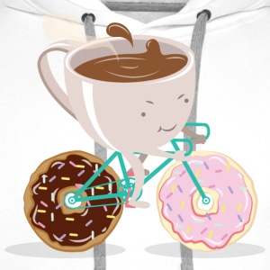Donut Coffee Bicycle T-shirts - Herre Premium hættetrøje