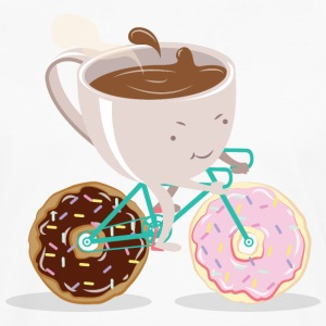Donut Coffee Bicycle Camisetas - Camiseta de manga larga premium hombre