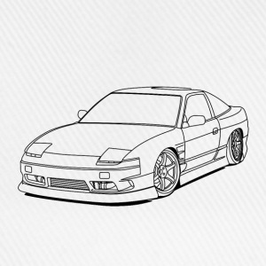 240sx outlines T-Shirts - Baseball Cap