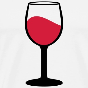 Wine glass, vin Tabliers - T-shirt Premium Homme