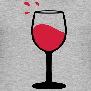 Wine glass, sommelier Hoodies & Sweatshirts - Men's Slim Fit T-Shirt
