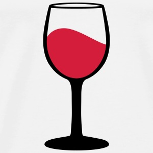Wine glass Tops - Mannen Premium T-shirt