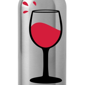Wine glass, sommelier Sports wear - Water Bottle
