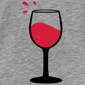 Wine glass, sommelier Sweaters - Mannen Premium T-shirt