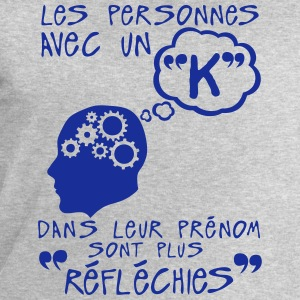 k reflechie prenom citation lettre perso Manches longues - Sweat-shirt Homme Stanley & Stella