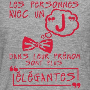 j elegante prenom citation lettre person Tee shirts - T-shirt manches longues Premium Homme