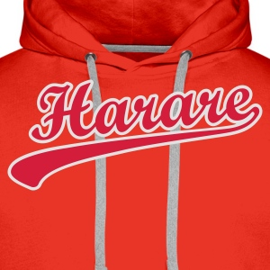 harare_scroll_t_11 T-Shirts - Men's Premium Hoodie