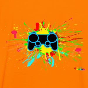 Controller Splatter Gamer Hoodies & Sweatshirts - Men's Ringer Shirt