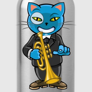 Cat and jazz - Water Bottle