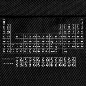 Black periodic table of elements Men's T-Shirt - Sac à dos Enfant