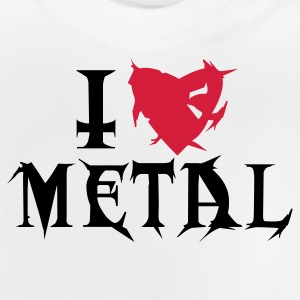 Hellgrau meliert i love metal Kinder Pullover - Baby T-Shirt