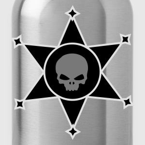 Lilac Sheriff's star with Skull icon Umbrellas - Water Bottle