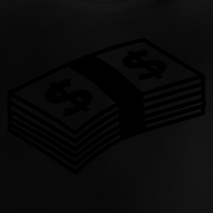 Sort Money dollars B&W Børne T-shirts - Baby T-shirt