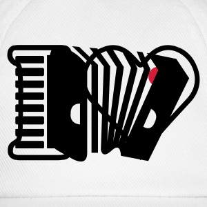 Blanco acordeón / Accordion (1c) Camisetas - Gorra béisbol