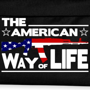 Schwarz THE AMERICAN WAY OF LIFE T-Shirts - Kinder Rucksack