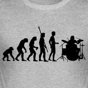 Heather grey evolution_drummer_1c Hoodies & Sweatshirts - Men's Slim Fit T-Shirt
