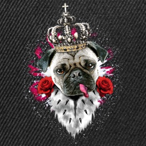 Schwarz Mops - Pug The King T-Shirts Pug - Snapback Cap