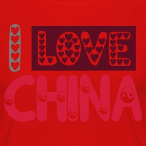 I LOVE CHINA t-shirt, j'aime la Chine - T-shirt manches longues Premium Femme