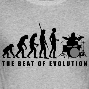 Heather grey evolution_drummer_c_2c Hoodies & Sweatshirts - Men's Slim Fit T-Shirt