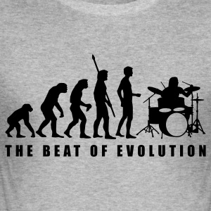 Heather grey evolution_drummer_c_1c Hoodies & Sweatshirts - Men's Slim Fit T-Shirt