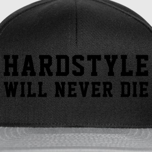 Schwarz Hardstyle T-Shirts - Casquette snapback