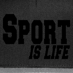 Black sport is life Bags  - Snapback Cap