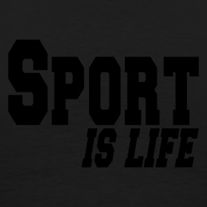 Svart sport is life Jakker - Premium T-skjorte for menn
