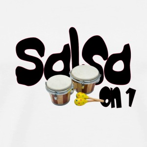White salsa_on_1_edited Mugs  - Men's Premium T-Shirt