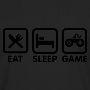 Black Eat sleep game Kids' Shirts - Men's Premium Longsleeve Shirt