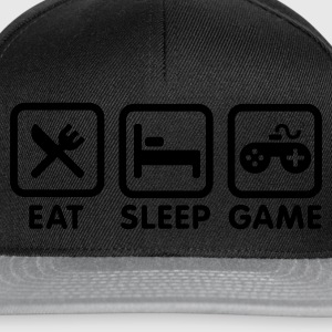 Black Eat sleep game Kids' Shirts - Snapback Cap